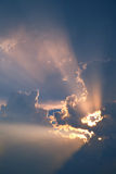 красивейший заход солнца моря тропический Стоковое фото RF