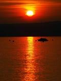 красивейший заход солнца озера garda Стоковая Фотография RF