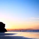 красивейший заход солнца океана Стоковые Фотографии RF