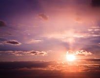 красивейший заход солнца очень Стоковая Фотография