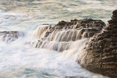 красивейший заход солнца скалы Стоковое Фото