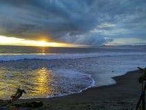 красивейший заход солнца Стоковое Изображение
