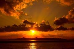 красивейший заход солнца 2 Стоковые Изображения