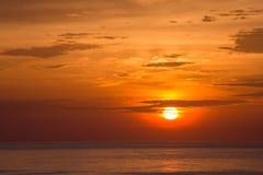 Красивейший заход солнца Стоковые Фотографии RF