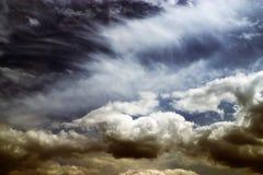 красивейший заход солнца louds Стоковые Изображения RF