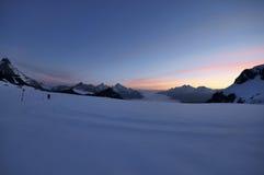 Красивейший заход солнца в горах Стоковые Изображения RF