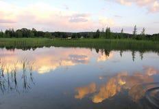 Красивейший заход солнца лета Стоковые Изображения RF
