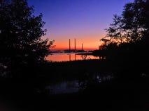 Красивейший заход солнца лета Стоковая Фотография