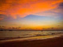 красивейший заход солнца моря Стоковые Фотографии RF