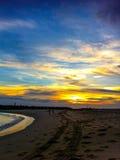 красивейший заход солнца моря Стоковые Изображения