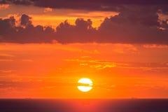 красивейший заход солнца неба Стоковые Фотографии RF
