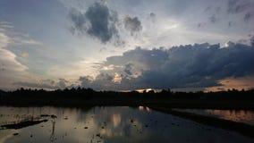 красивейший заход солнца неба Стоковая Фотография RF