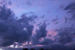красивейший заход солнца облаков Стоковое Изображение RF