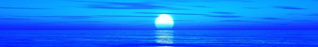 красивейший заход солнца океана Стоковая Фотография RF