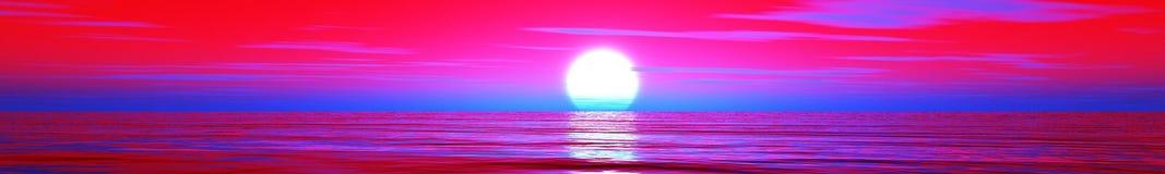 красивейший заход солнца океана Стоковые Фото