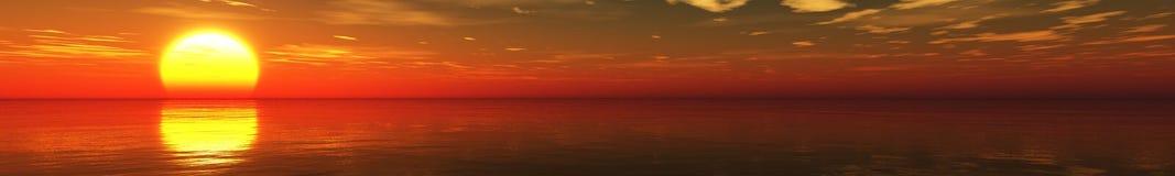 красивейший заход солнца океана Стоковое Изображение
