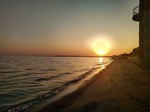 красивейший заход солнца природы Стоковое Изображение