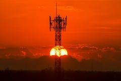 красивейший заход солнца стоковое фото