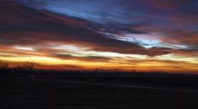 красивейший заход солнца Стоковое фото RF
