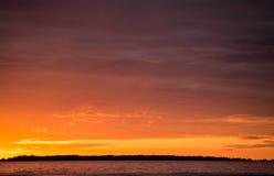 красивейший заход солнца Стоковая Фотография