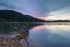красивейший заход солнца Стоковая Фотография RF