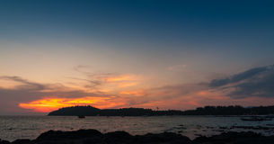 красивейший заход солнца seascape Стоковые Фото