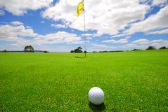 красивейший зеленый цвет гольфа Стоковая Фотография