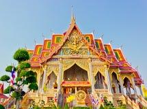 красивейший золотистый висок тайский Стоковая Фотография