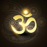 Красивейший золотистый символ om Стоковое фото RF