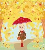 красивейший зонтик девушки иллюстрация штока