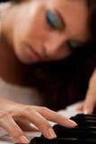 красивейший игрок рояля повелительницы Стоковое Изображение