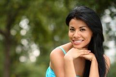 красивейший испанский язык девушки Стоковое фото RF