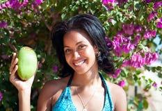Красивейший карибский представлять брюнет Стоковые Изображения