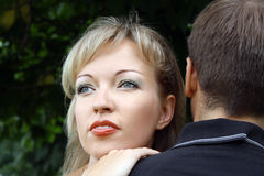 красивейший конец мечтая вверх женщины Стоковое фото RF