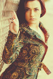 красивейший коричневый цвет eyes женщина стоковое изображение rf