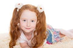 красивейший красный цвет волос девушки Стоковая Фотография RF