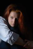 красивейший красный цвет волос девушки Стоковое Изображение RF