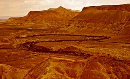 красивейший красный цвет ландшафта пустыни Стоковая Фотография