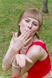 красивейший красный цвет повелительницы Стоковые Изображения RF
