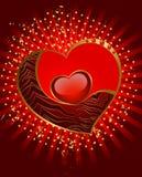 красивейший красный цвет сердца Стоковая Фотография