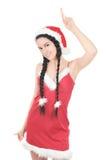 красивейший красный цвет gir платья Стоковое фото RF