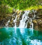 Красивейший ландшафт Водопад Vacoas каскада Маврикий Стоковые Фотографии RF
