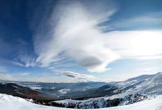 красивейший ландшафт гористый Стоковое Изображение RF