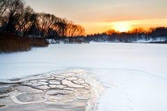 Красивейший ландшафт зимы Бесплатная Иллюстрация