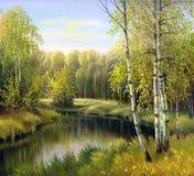 Красивейший ландшафт осени Стоковые Изображения
