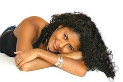 красивейший лежать девушки Стоковая Фотография RF
