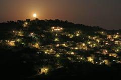 красивейший лунный свет ландшафта Стоковая Фотография