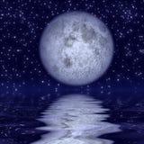 красивейший лунный свет иллюстрация вектора