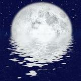 красивейший лунный свет бесплатная иллюстрация