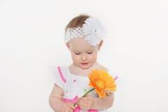 красивейший малыш девушки цветка Стоковое Фото